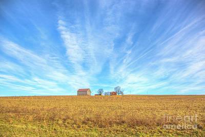 Alone Digital Art - Blue Skys And Yellow Fields by Randy Steele