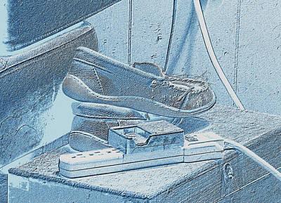 Digital Art - Blue Slippers by Aliceann Carlton