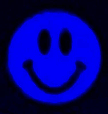 Photograph - Blue Smiley by Rob Hans
