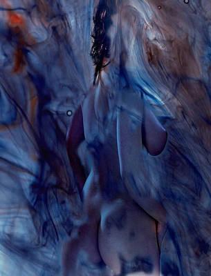 Blue Smoke And Glass Art Print by Kenneth Lambert