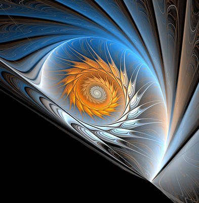 Computer Generated Flower Photograph - Blue Snail by Svetlana Yelkovan