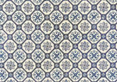 Photograph - Blue Snow Flower Tiles From Lisbon by For Ninety One Days