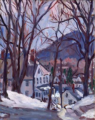 Daily Painter Painting - Blue Snow by Thor Wickstrom