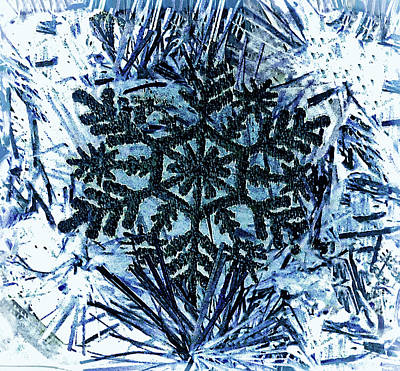 Digital Art - Blue Christmas by Leslie Montgomery