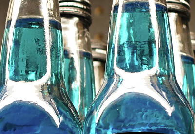 Silver Turquoise Photograph - Blue Soda Abstract by Bonnie See