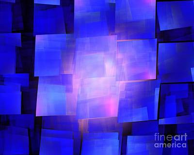 Digital Art - Blue Solar Cubes by Kim Sy Ok