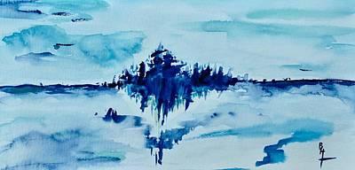 Blue Soundscape Art Print