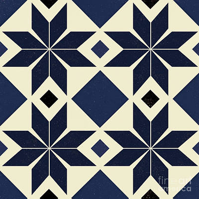 Moorish Digital Art - Blue Spanish Tile by Andrew Watson
