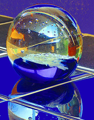 Digital Art - Blue Sphere by Jana Russon
