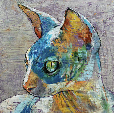 3d Painting - Blue Sphynx by Michael Creese