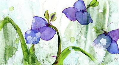Painting - Blue Spiderwort by Dawn Derman