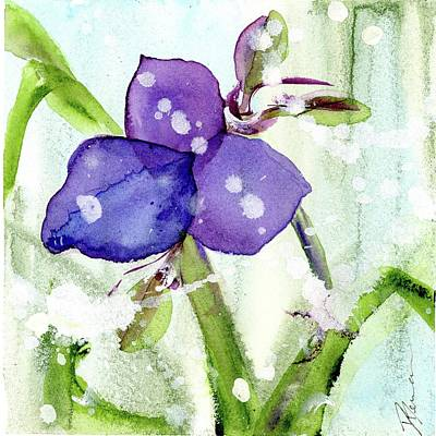 Painting - Blue Spiderwort Single by Dawn Derman