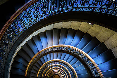 Blue Spiral Art Print by John Duffy