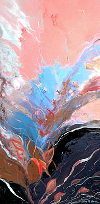 Painting - Blue Splash by Gina De Gorna