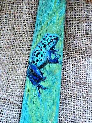 Mixed Media - Blue-spotted Tree Frog by Ann Michelle Swadener