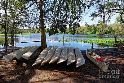 Photograph - Blue Spring Canoes by Paul Mashburn