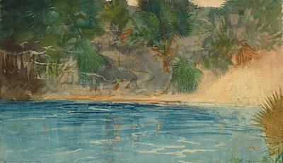 Spring Landscape Painting - Blue Spring Florida by Winslow Homer