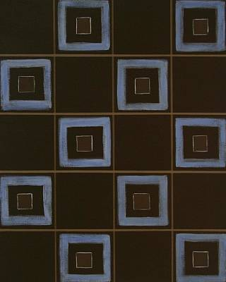 Blue Squares Art Print by Sandy Bostelman