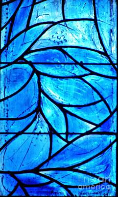 Photograph - Blue Stained Glass Detail 2 by Sarah Loft