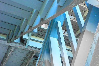 Photograph - Blue Stairs by Sheri McLeroy