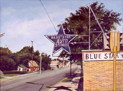 Painting - Blue Star Auto by William Brody
