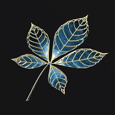 Digital Digital Art - Blue Star Leaft by Alberto RuiZ
