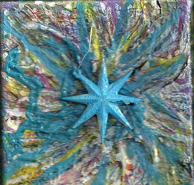 Blue Star Shining At Me Art Print by Anne-Elizabeth Whiteway