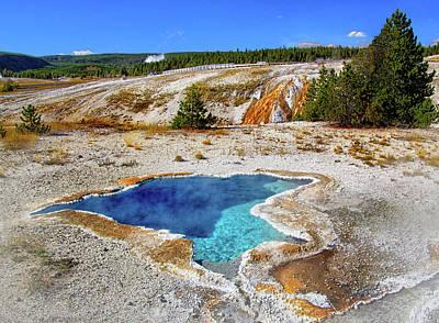 Photograph - Blue Star Spring In Yellowstone by Carolyn Derstine