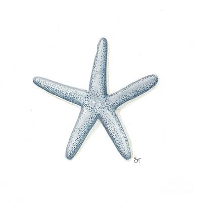 Painting - Blue Starfish by Stephanie Troxell