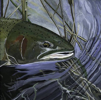 Painting - Blue Steelhead by Sara Stevenson
