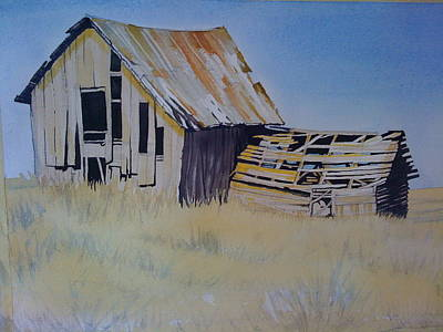 Wa Painting - Blue Stem Barn by Lynne Haines