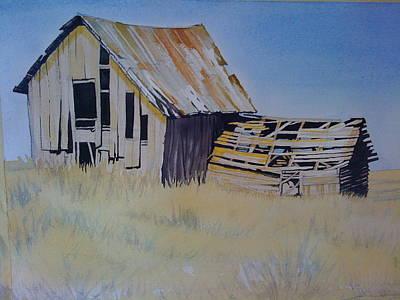 Blue Stem Barn Original by Lynne Haines