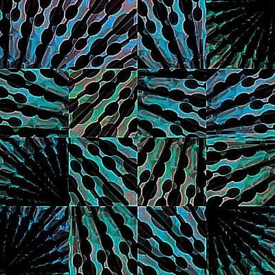 Digital Art - Blue Sticks by Cooky Goldblatt