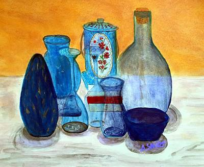 Blue Still Life Art Print
