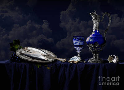 Digital Art - Still Life In Blue by Alexa Szlavics