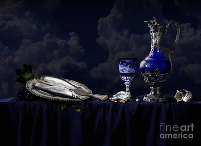 Digital Art - Still Life In Blue by Alexa Szlavics