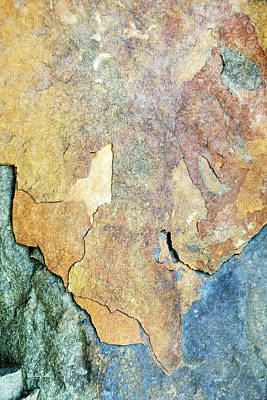 Photograph - Blue Stone Abstract by Christina Rollo