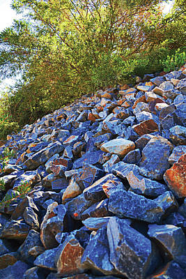 Photograph - Blue Stone Hill  by Naomi Burgess