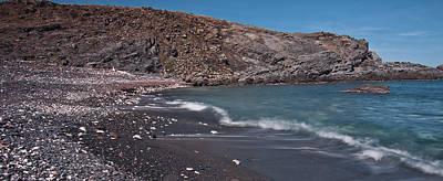 Shore Photograph - Blue Stones Panorama by Pedro Cardona Llambias