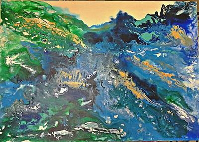 Painting - Blue Storm by Joy Fahey
