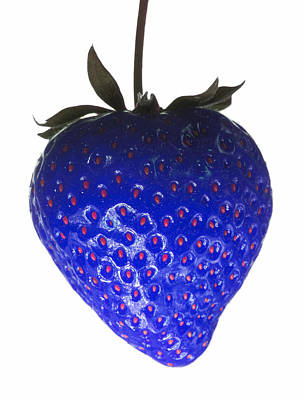 Blue Strawberry Art Print