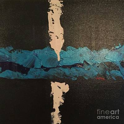 Fashion Abstraction Painting - Blue Streak by Junye Butler