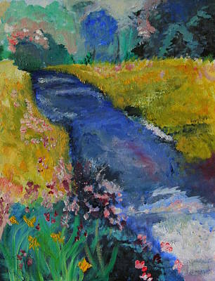 Painting - Blue Stream by Julie Lueders