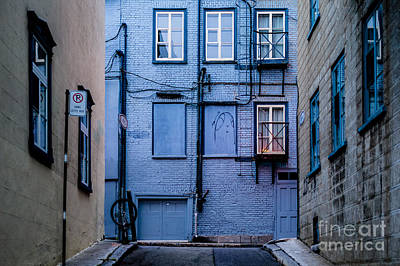 Photograph - Blue Street by M G Whittingham