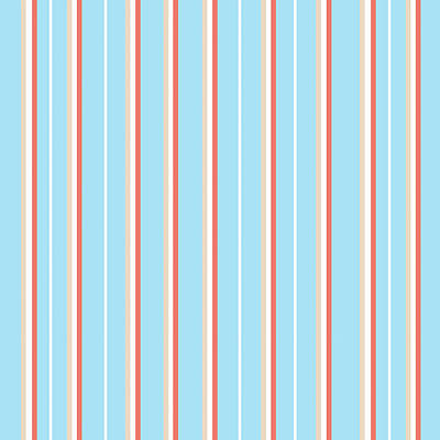 Pattern Mixed Media - Blue Stripe Pattern by Christina Rollo