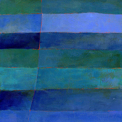 Blue Stripes 3 Art Print by Jane Davies