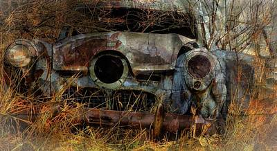 Photograph - Blue Studebaker II by Jim Vance