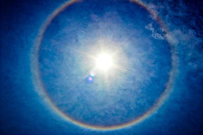 Photograph - Blue Sun Halo by Colleen Kammerer
