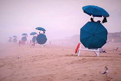Photograph - Blue Sunbrellas by Kim Bemis