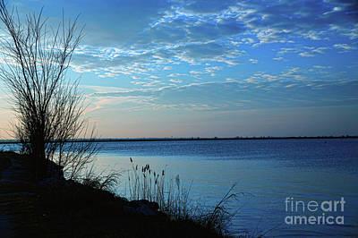 Photograph - Blue Sunrise At Sea by Diana Mary Sharpton